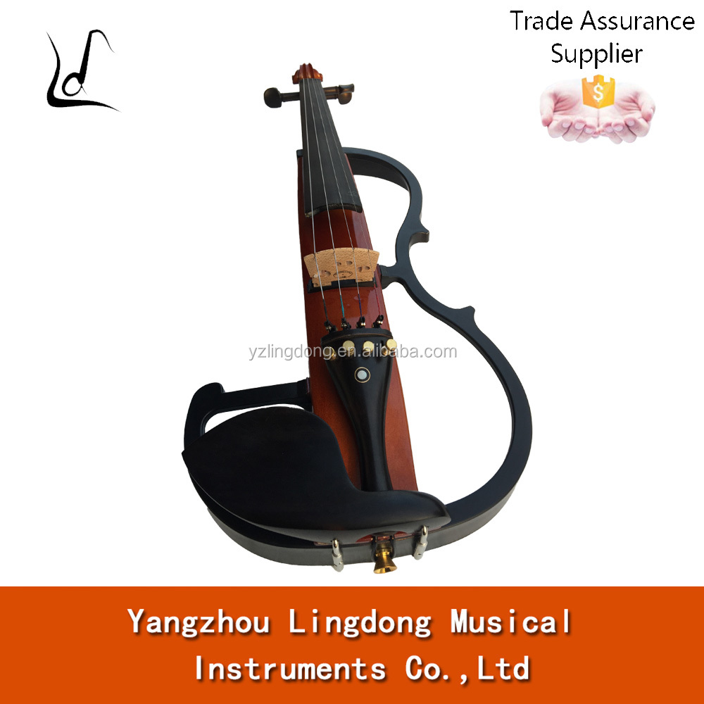 china advanced solid wood ebony parts electric violins 4/4
