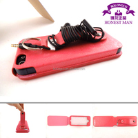 leather flip function case for iphone 5 case cover with hand strap from Guangzhou