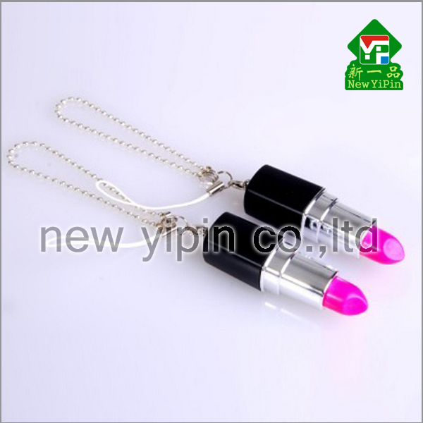 New Yipin hot sale customizable logo lipstick shape USB flash drive