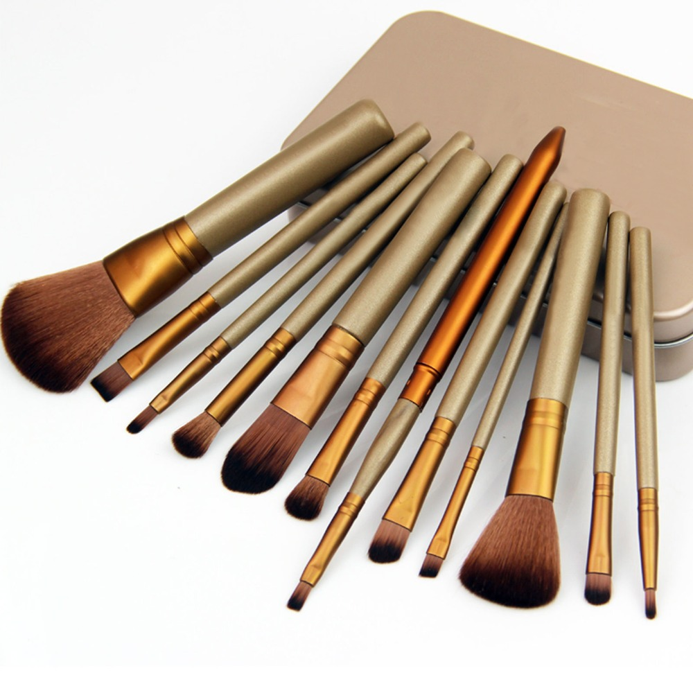 12pcs Eye Shadow Palette Cosmetic Brushes Kit Pinceis Maquiagem Profissional Foundation Brushes Make up Tools pinceau maquillage