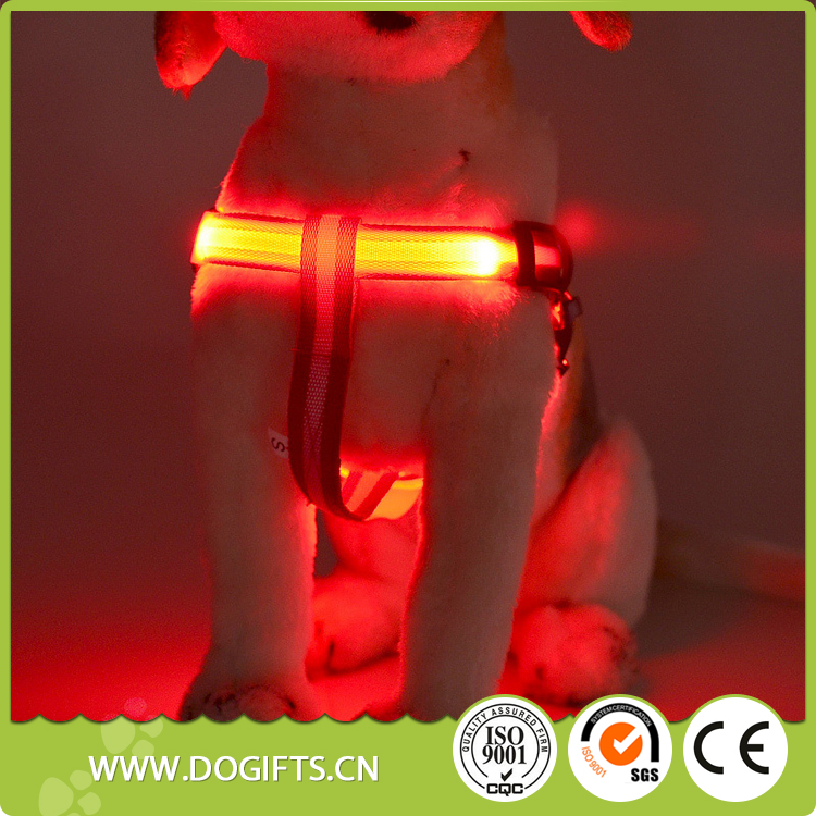 Best selling led dog collars and harnesses Factory designer best waterproof led rechargeable dog harness