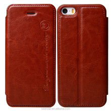 New Fashion Mobile Phone Leather Folio Case For Apple iPhone 5 5s