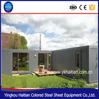 Move-in Strong steel frame prefab shipping container house/indonesia Container Homes for sale