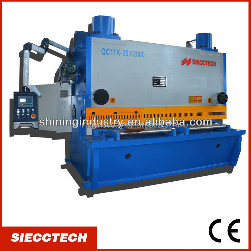 SIECC QC11Y SERIES ALLOY SHEET MANUAL SHEET METAL SHEARING MACHINE IN NANTONG WITH HIGH QUALITY AND COMPETITIVE PRICE