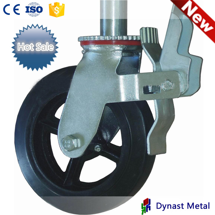 Colson 6 Series Swivel Industrial Top Plate Pu Caster wheels with Metal Tread Lock Brake scaffolding Casters