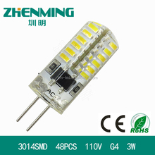 Factory sellled 3014SMD G4 pin led light bulb waterproof led corn lamp
