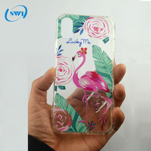 Transparent soft tpu blank uv printer flamingo for iphone7 cell mobile cover for iphone 5 5s 6 6s 7 8 plus xcase phone case
