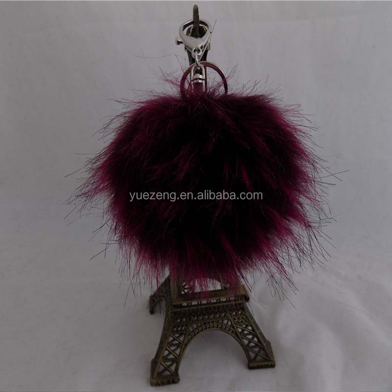 China Girl Women Sex Bag Bug Mink Detachable Faux Raccoon Fur Pom/faux fur ball