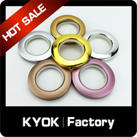 KYOK 0.5mm round track curtain rod curtain accessories,22mm hook hangers on bath rod & curtains rings