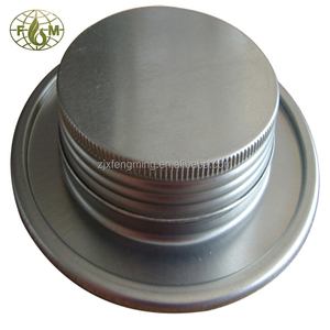 Conveyor belt adhesive can with metal stopper and screw cap
