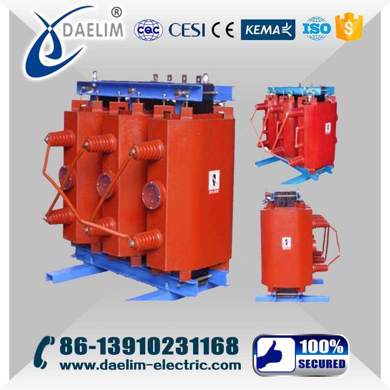 YNd11 6kv/230v 2500kva Dry Type Power Transformer with Copper