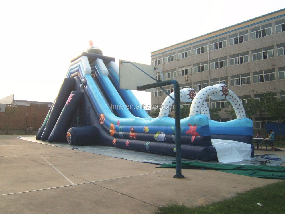 Playground adult size inflatable water slide for sale