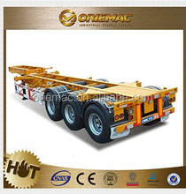 Heavy duty equipment flatbed trailer semi trailer manufacturer factory supplier , truck trailer used for sale germany