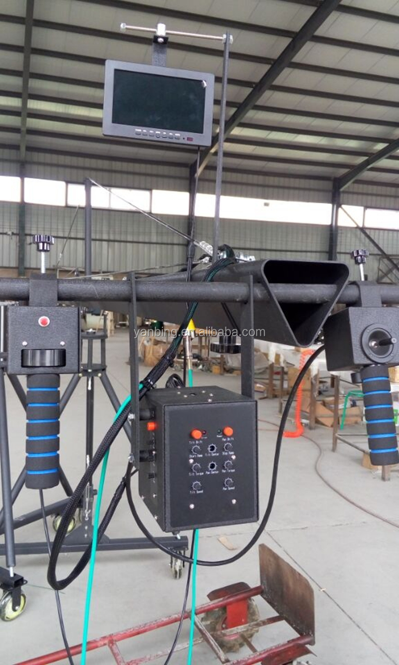 Professional video triangle crane 6m 3-axis TV film jimmy jib crane for sale with motorized dutch head