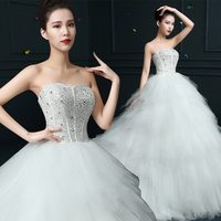 Top level new products bare back wedding dress for young ladies