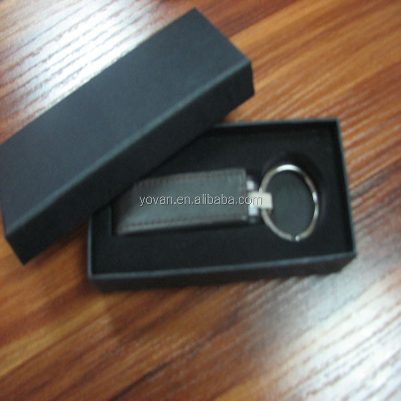 Custom Key Chain Packaging Gift Box With Cushion Pad Wholesale