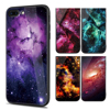 Starry Sky Phone Case for iPhone 8 Plus Tempered Glass Phone Cases Back Cover for IPhone X Case