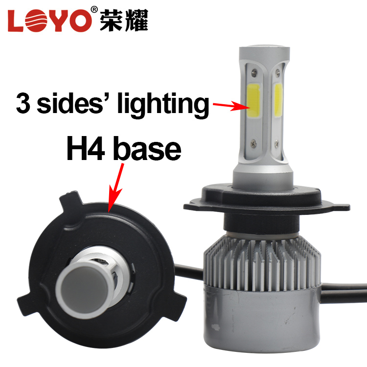 cars accessories high power led head light L4 80W H1 H3 H7 H10 H11 H13 9006 9005 hi/lo motorcycle led headlight h4 hi lo bulb