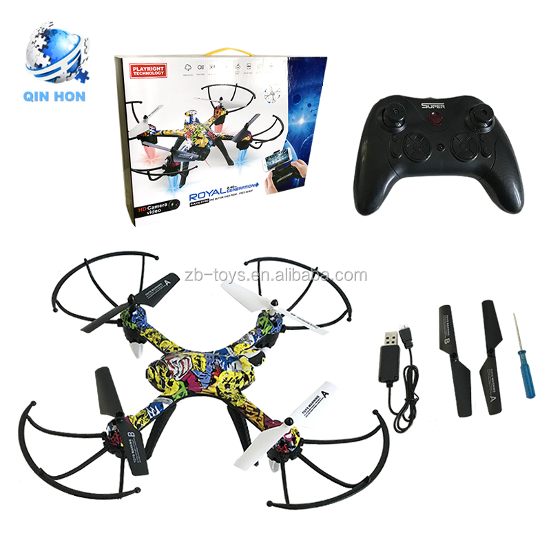 2018 Hot sale Wifi 6 axis gyro remote control quadcopter rc helicopter toy with camera