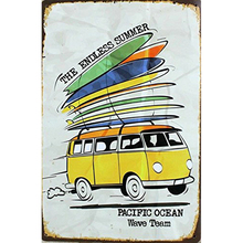 The endless summer pacific ocean wall decor tin sign