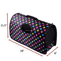2016 wholesale Large Size loveable Polka Dots Pet products dog carrier