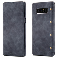 Magnetic Flip Premium PU Leather Cell Phone Wallet Case for Samsung Galaxy Note 8 Case Leather