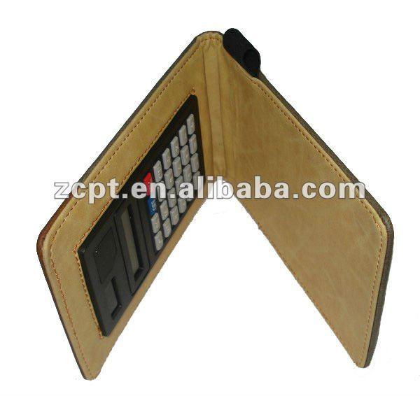 Hard Leather Calculator Case