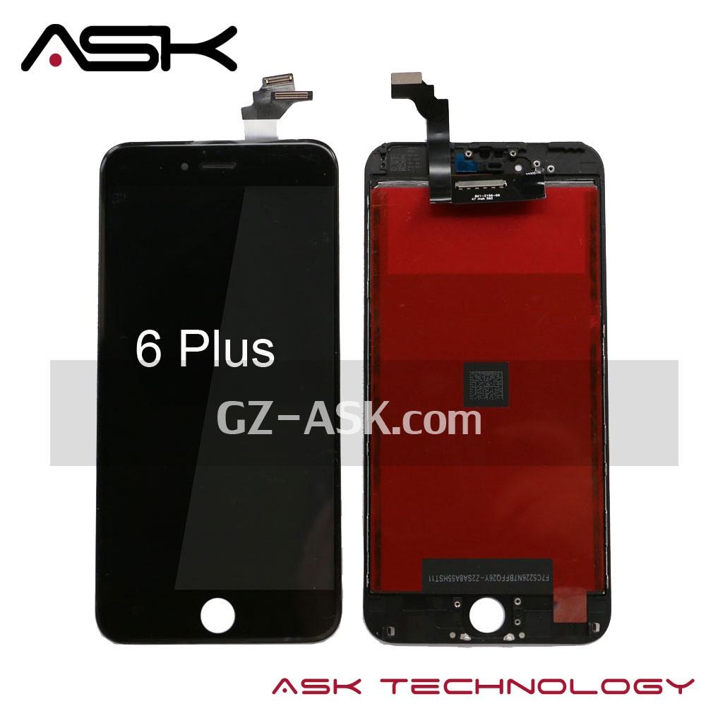 Para iphone 6 mais display lcd touch screen reparação de tela para iphone 6 mais lcd tela digitador assembléia