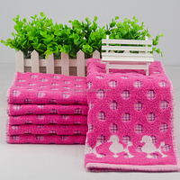 Twistless jacquard face towel(dog)
