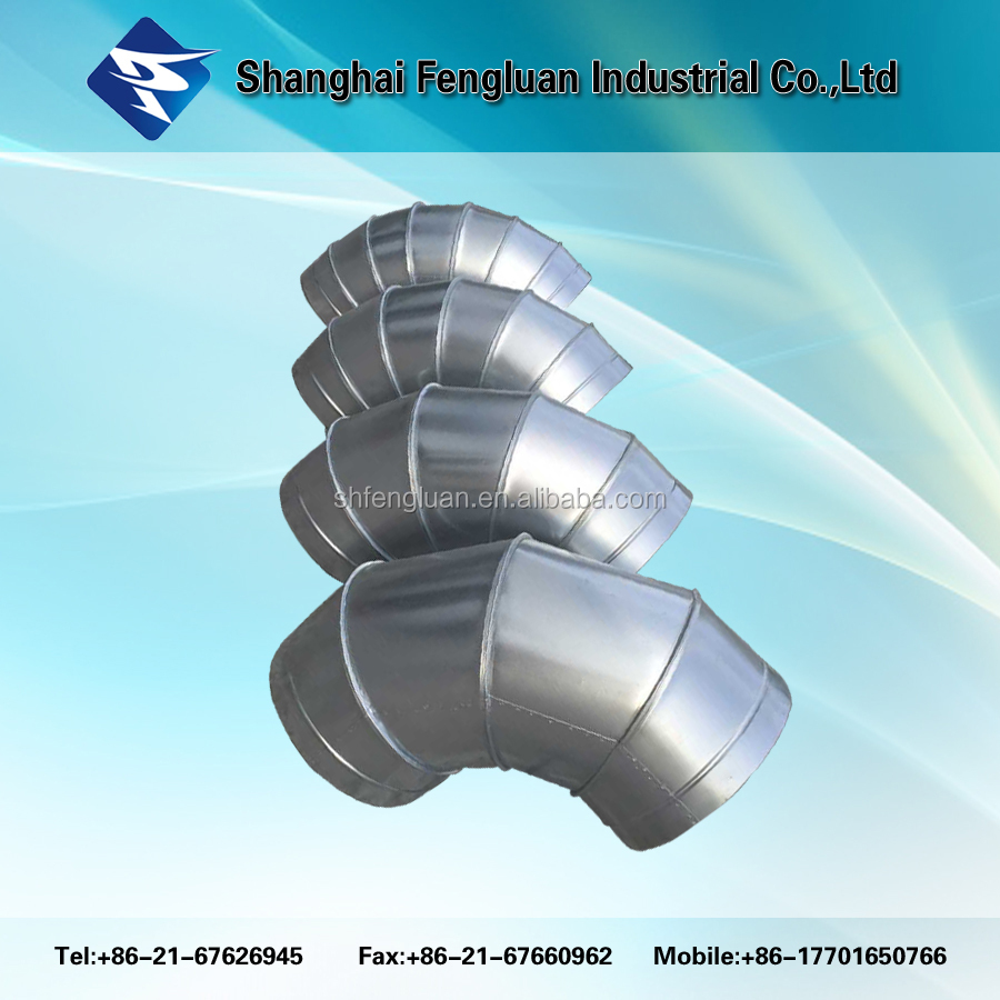 Ventilation air duct round bend 90 degree elbow fitting