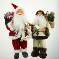 2014 new design christmas santa claus plush toys for gifts made in China factory