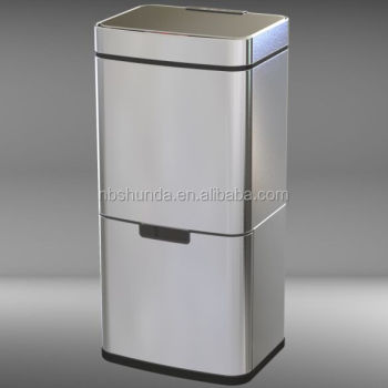 plastic recycling mini electronic garbage sensor trash can