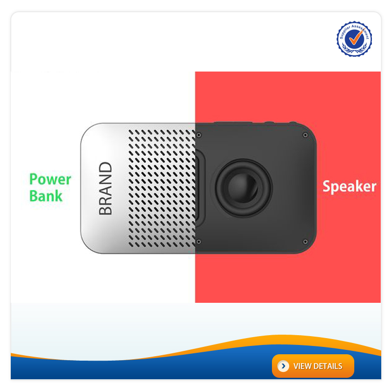 AWC929 Fashion Design 5000mAh high quality usb multi charger oem portable power bank bluetooth speaker