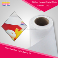 Self adhesive water resistant glossy pp paper