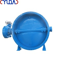 100% Test Bi-directional Triple Offset Butterfly Metal Seated Price Butterfly Valve with Electric Actuator