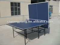 SJ-318 double folding cheap table tennis equipment/table tennis training equipment