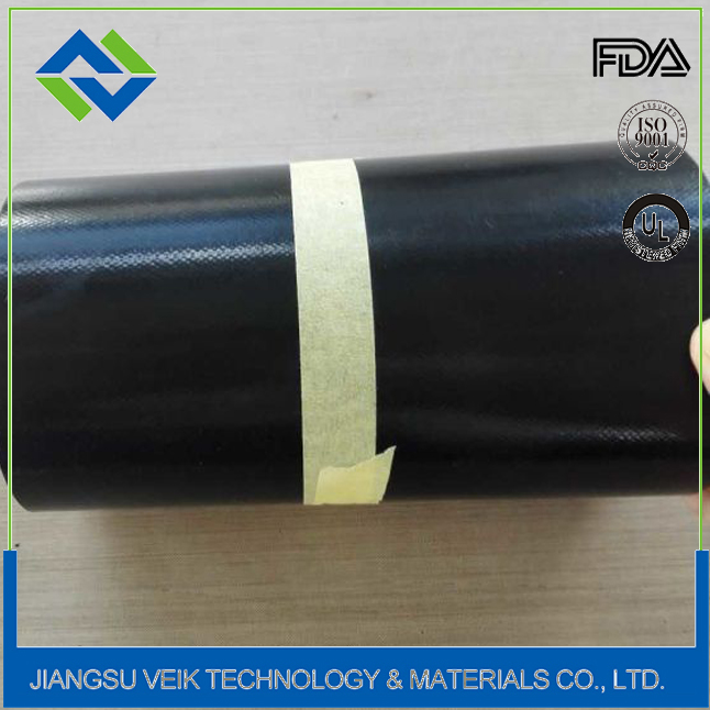 Black color 0.45mm thickness ptfe fusing machine seamless belt