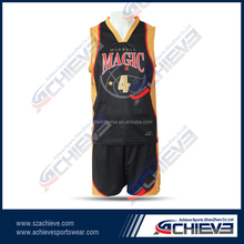 Custom labels cool basketball jersey with free design made in china