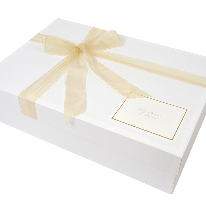 Sweet Decorative Custom Design Paper Box For Wedding Dress Packaging