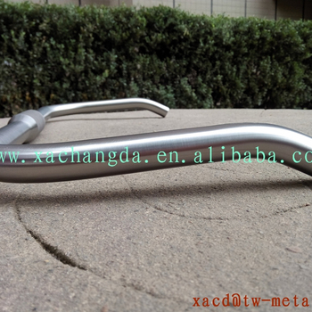 Titanium road bike handlebar with handing brush finished made in China