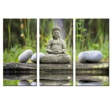 Buddha Canvas Prints 3 Panels Artwork Picture Religion Canvas Painting Art Buddha Painitng Prints