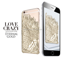 Korea Style Love Crazy Case for iPhone 6, for iPhone 6 Cover Case With Angels's Wing Design, China Supplier