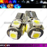 Top quality 5SMD 5050 led T10 canbus(MST10WB0550SC-NI2)
