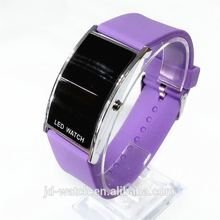 Fashion Women Silicone led wrist Watch,Digital Display rectangle sports led watches