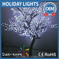 christmas white tree led branch lights / led cherry nlossom light