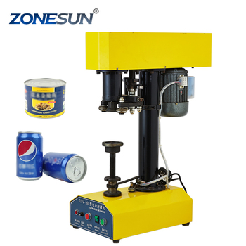 ZONESUN semi-automatic Tin soft drink CANS Capping sealing machine tin can seamer can closing machine with high quality