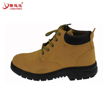 Genuine Leather work boots safety shoes mens with steel toe