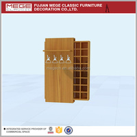 Clothes Shop Wooden Tie Display Cabinet, Tie Display Holder