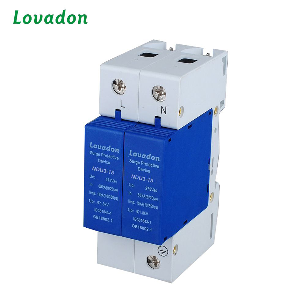 NDU 65kA 2P 220V DC SPD Low Voltage Power Surge Protection Device For Solar PV System