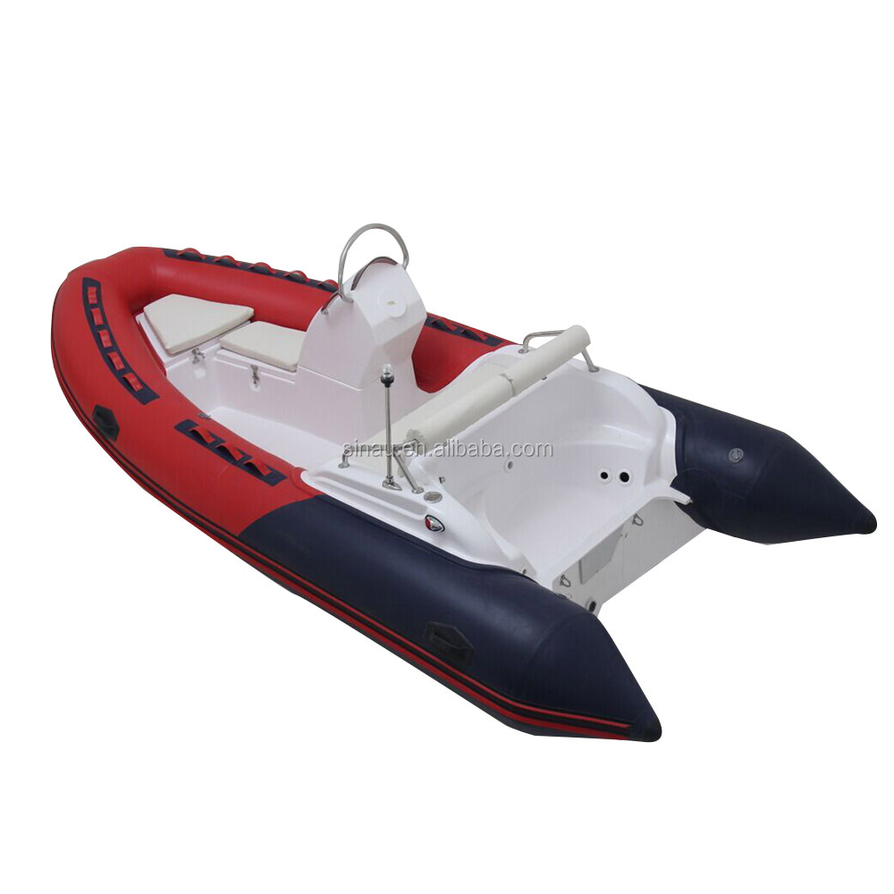 4.7m 15.5ft rigid hull fiberglass inflatable boat inflatable RIB boat for sale